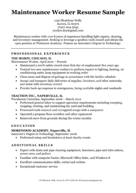Construction Labor Resume Sample Resume Companion