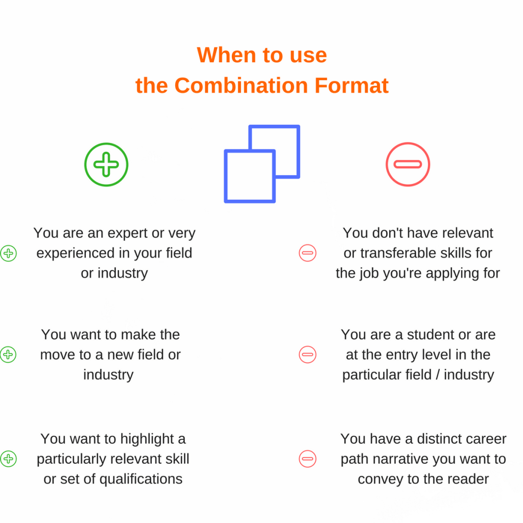 when to use combination resume format