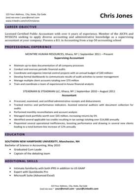Lilac Elegant Resume Template