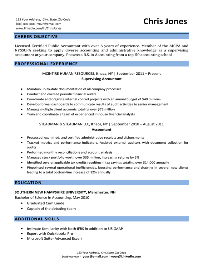 Resume Objective Examples for Students and Professionals | RC