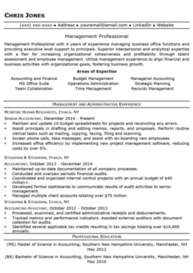 Black and White Mid-Level Resume Template