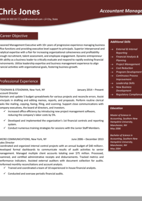 Ruby Red Olympic Resume Template