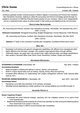 Black and White Student Resume Template