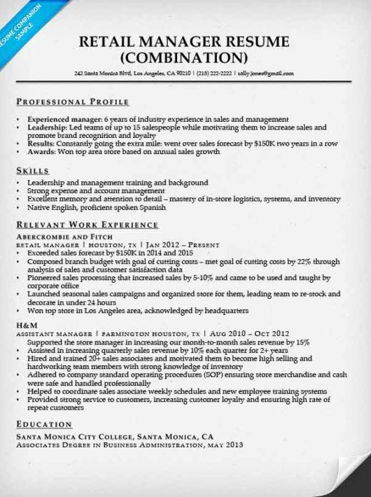 retail manager resume examples download retail manager resume