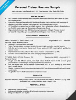 personal trainer cover letter chronological resume format
