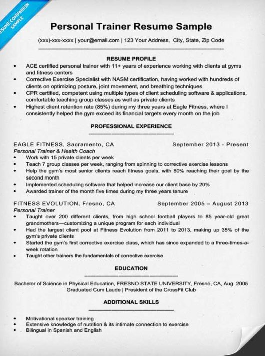 chronological resume format - Personal Resume Samples