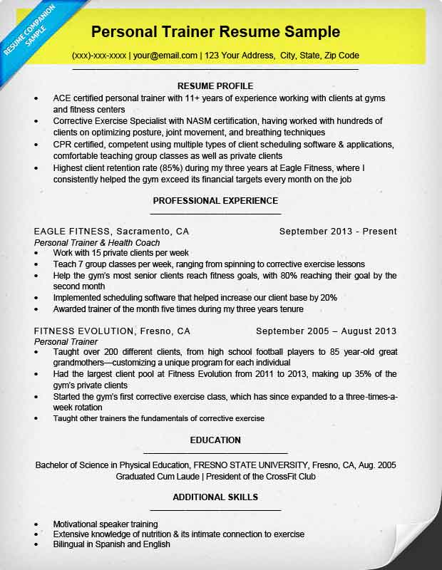 name contact information on resume - How To Write A Personal Resume
