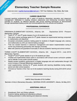 Resume Example For A Elementary Teacher  Private Tutor Resume