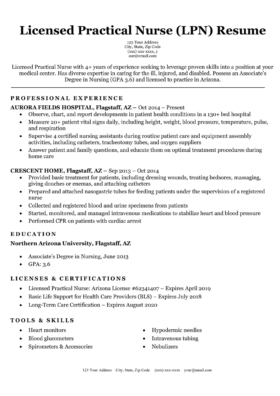 Registered Nurse Rn Resume Sample Tips Resume Companion