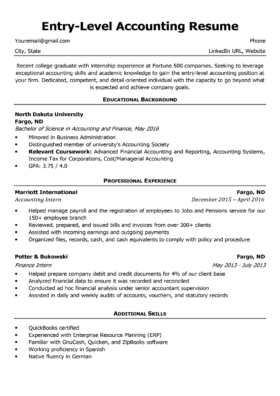 Entry-Level Accounting Sample
