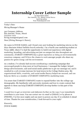 College Cover Letter Template from resumecompanion.com