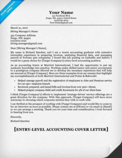 Entry Level Accounting Cover Letter Sample  Sample Resume Accounting