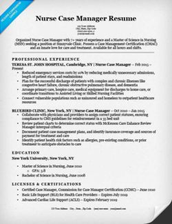 case manager resume