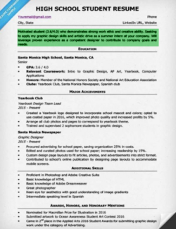 high school student resume objective - High School Resume Objective Examples