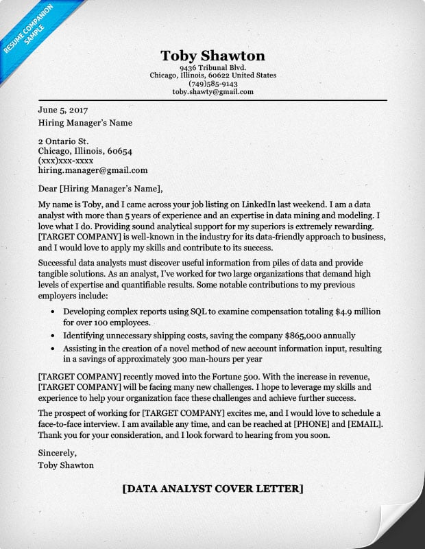 Data Analyst Cover Letter. Data Analyst Resume Sample  Cover Letter Examples Resume