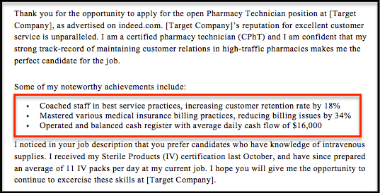 Pharmacy Technician Cover Letter Sample Amp Guide