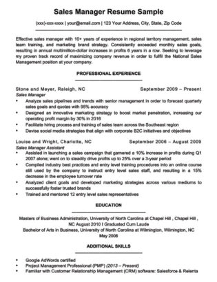 Marketing Manager Resume Sample Resume Companion