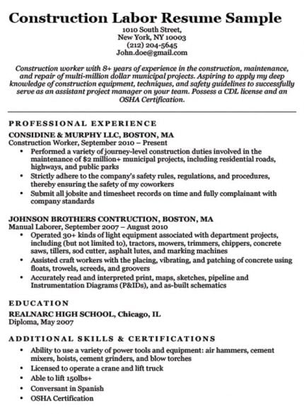 Electrician Resume Sample Amp Writing Tips Resume Companion