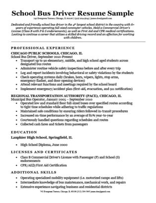 School bus driver cover letter sample writing tips resume companion school bus driver resume sample download spiritdancerdesigns
