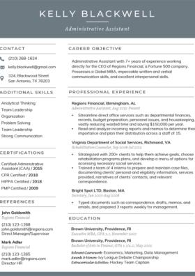 Slate Classic Resume Template
