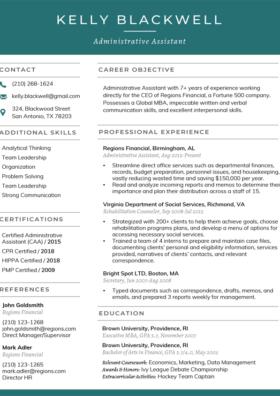 Viridian Classic Resume Template