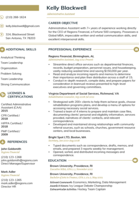 Imperial Gold Clean Resume Template