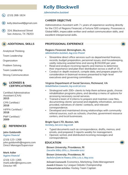 Vanilla Clean Resume Template