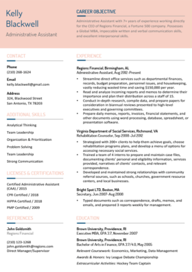 Coral Pink Contemporary Resume Template