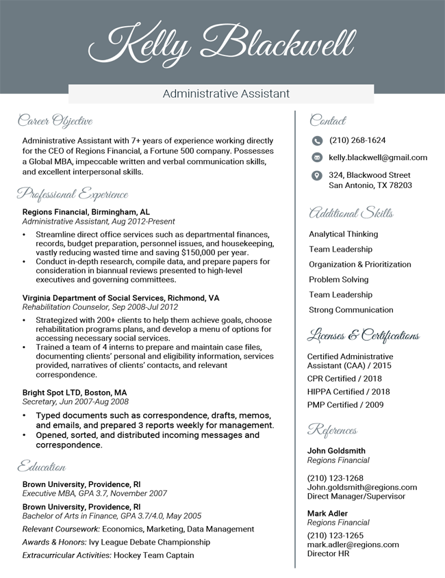 Professional Resume Templates Free Microsoft Word Download