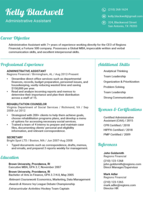 Aquamarine Fancy Resume Template