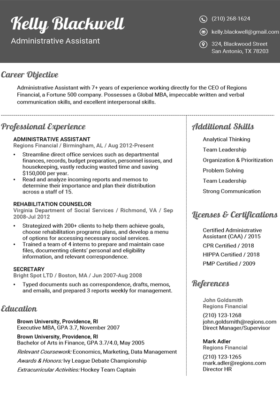 Granite Fancy Resume Template