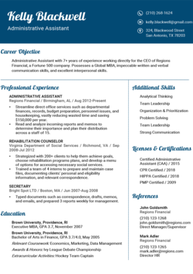 Sea Blue Fancy Resume Template