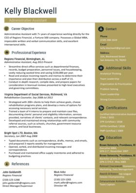 Imperial Gold Gold Standard Resume Template