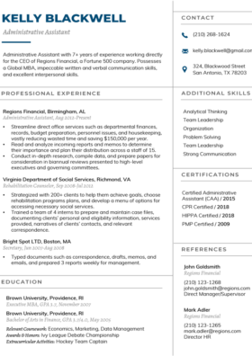 Vanilla Manager Resume Template
