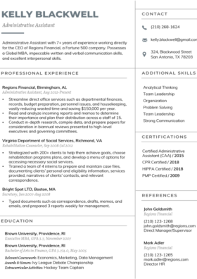 Slate Manager Resume Template