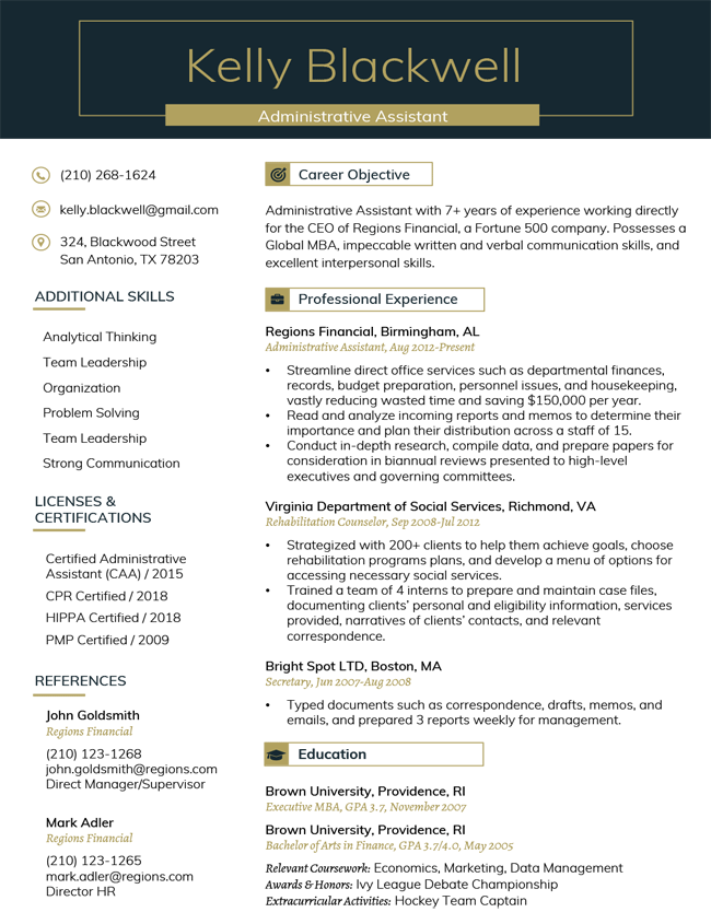 Professional Resume Templates [Free Microsoft Word Download ...