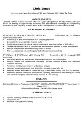 Black and White Simple Resume Template