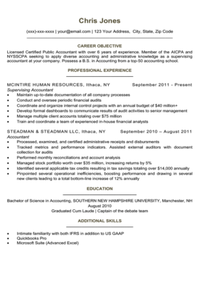 Forest Green Simple Resume Template
