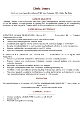 Ruby Red Simple Resume Template