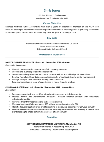 Aquatic Blue Stand-Out Resume Template