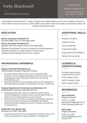 Charcoal Stanford Resume Template