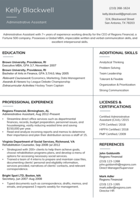 Sapphire Stanford Resume Template