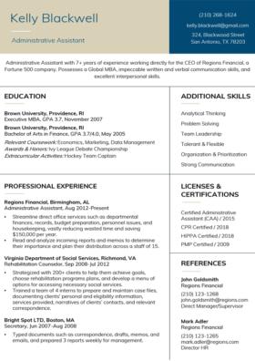 Vanilla Stanford Resume Template