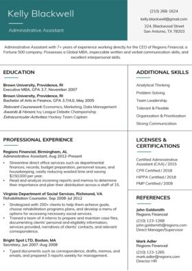 Viridian Stanford Resume Template