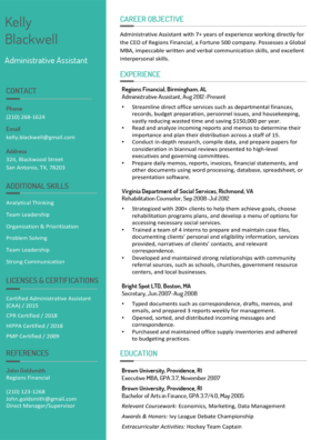 Aquamarine Stylish Resume Template