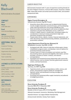 Vanilla Stylish Resume Template