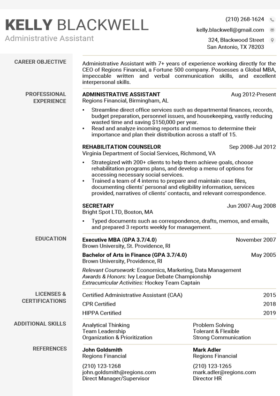 Granite Technical Resume Template