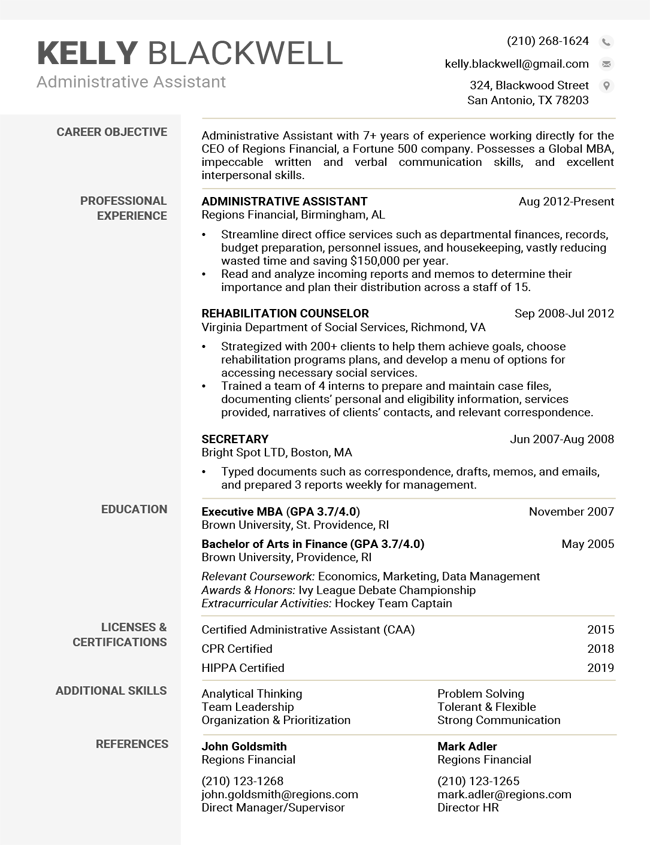 Free Modern Resume Templates Word Download Resume Companion